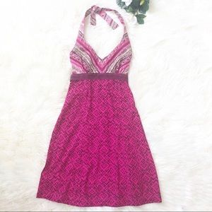 Athleta Pack Everywhere Pink Halter Dress